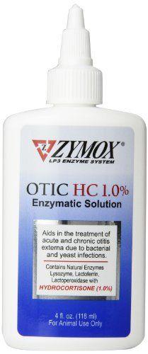 Tratamentul Zymox Otic Pet ureche cu hidrocortizon